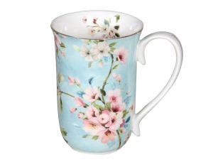 Peach Blossom Blue Mug 405cc  in a BOX
