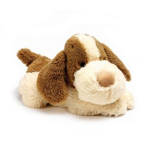 Cosy Plush Patch Puppy (Brown & White)
